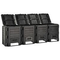 vidaXL kompostbeholder 1600 l sort
