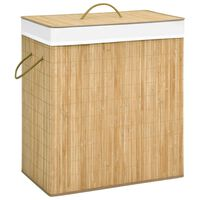 vidaXL vasketøjskurv 100 l bambus