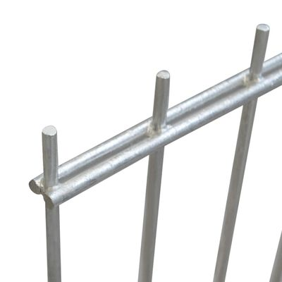 vidaXL havehegnspaneler 2D 2,008x1,23 m 22 m (total længde) sølvfarvet
