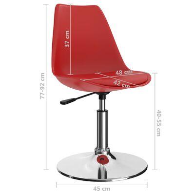 vidaXL drejelige spisebordsstole 4 stk. kunstlæder rød