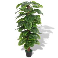 vidaXL kunstig taro-plante med urtepotte 145 cm grøn