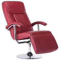 vidaXL lænestol rødvinsfarvet kunstlæder