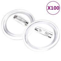 vidaXL dele til badges med nål 100 sæt 37 mm akryl