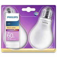 Philips LED-pærer 2 stk. klassisk 7 W 806 lumen 929001243031