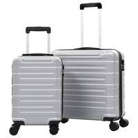 vidaXL kuffertsæt i 2 dele hardcase ABS sølvfarvet
