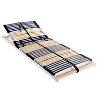 vidaXL lamelbund til seng med 42 lameller 7 zoner 80 x 200 cm