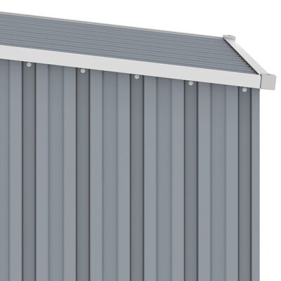 vidaXL haveskur 87x98x159 cm galvaniseret stål grå