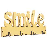 vidaXL vægmonteret knagerække SMILE 50 x 23 cm