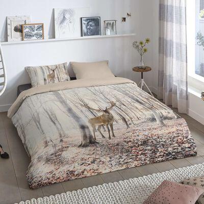 Good Morning sengetøj WOODLAND 135x200 cm sandfarvet