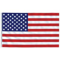 vidaXL det amerikanske flag 90x150 cm