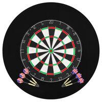 vidaXL professionel dartskive i sisal med 6 dartpile og ramme