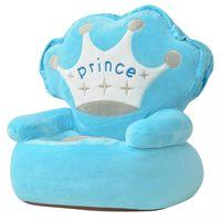 vidaXL børnestol i plys prince blå