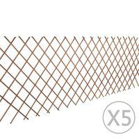 vidaXL pilehegn med espalier 5 stk. 180 x 90 cm