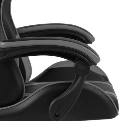 vidaXL racerstol kunstlæder sort og grå