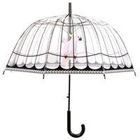 Esschert Design paraply med fuglebur gennemsigtig