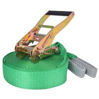 vidaXL slackline 15 m x 50 mm 150 kg grøn