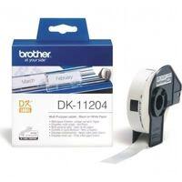 Multipurpose printer labels Brother DK11204 17 x 54 mm Hvid