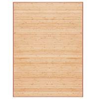 vidaXL bambustæppe 160 x 230 cm brun