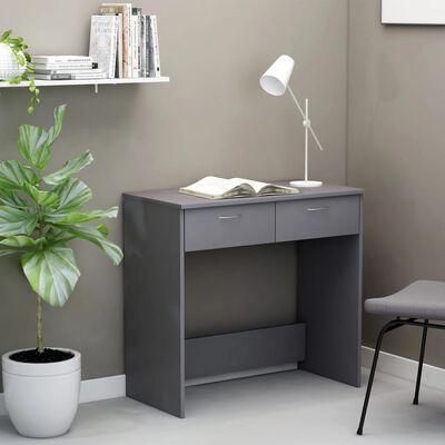 vidaXL skrivebord 80x40x75 cm spånplade grå