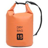 vidaXL tørpose 15 l PVC orange