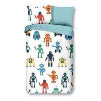 Good Morning sengetøj til børn Robots 140 x 200/220 cm