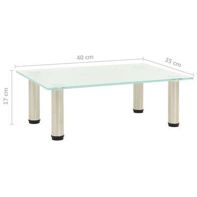 vidaXL tv-bord 80x35x17 cm hærdet glas matteret