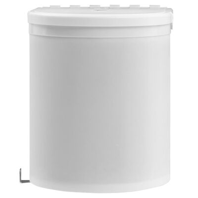 vidaXL indbygget skraldespand til køkkenet 12 l plastik