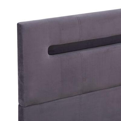 vidaXL sengestel med LED 140 x 200 cm stof grå