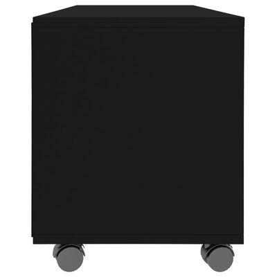 vidaXL tv-skab med hjul 90 x 35 x 35 cm spånplade sort