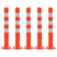 vidaXL trafikkegler 5 stk. plastik 75 cm