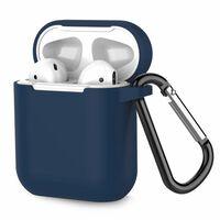 Airpods taske Silikone Ekstra stødsikker Mørkeblå