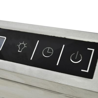 Frithængende emhætte til kogeø med LCD-display