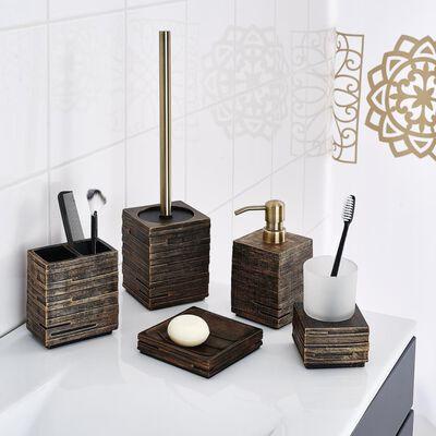 RIDDER toiletbørste med holder mursten ecrufarvet