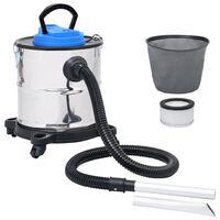 vidaXL askestøvsuger med HEPA-filter 1200 W 20 l rustfrit stål
