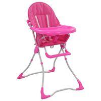 vidaXL højstol pink og hvid