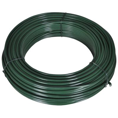 vidaXL hegnsbindetråd 80 m 2,1/3,1 mm stål grøn