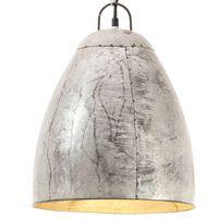 vidaXL industriel hængelampe 25 W rund 32 cm E27 sølvfarvet