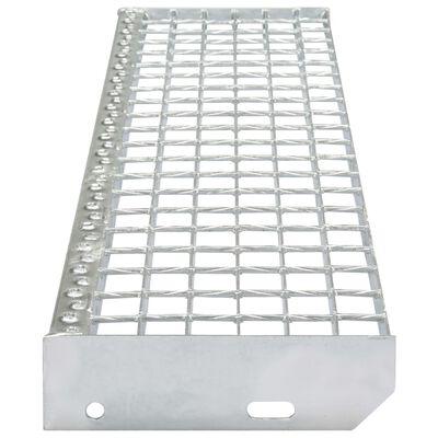 vidaXL trappetrin 4 stk. smedet galvaniseret stål 1000 x 240 mm