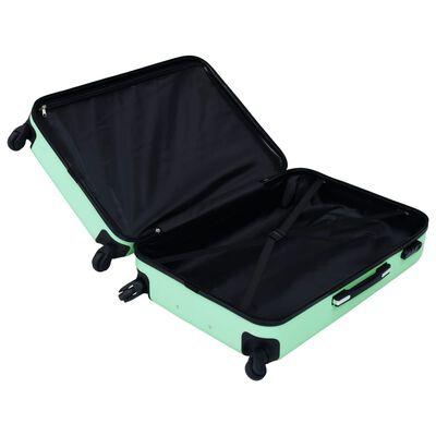 vidaXL kuffertsæt 3 stk. hardcase ABS mintgrøn