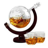 Karaffel med To Glas - Skib i Globus