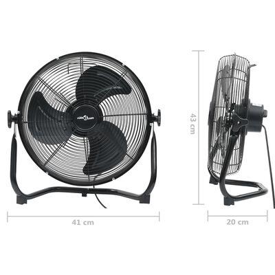 vidaXL gulvventilator 30 cm 3 hastigheder 40W sort