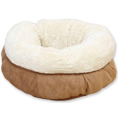 afp katte/hundeseng lammeuld donut brun