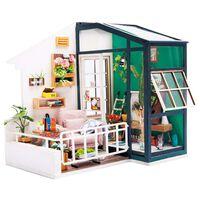 Robotime DIY-miniaturesæt Balcony Daydreaming med LED-lys