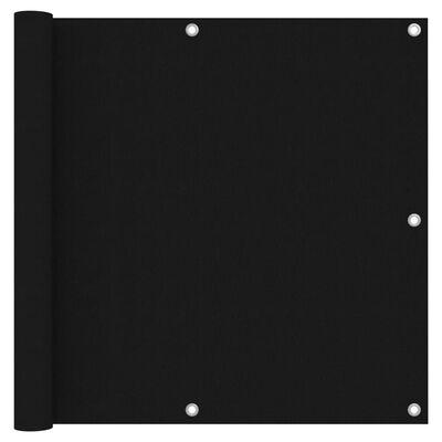 vidaXL altanafskærmning 90x600 cm oxfordstof sort