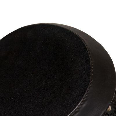 """vidaXL westernsadel hovedtøj og brystkrave ægte læder 13"""" sort"""