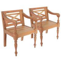 vidaXL Batavia-stole 2 stk. massivt mahognitræ lysebrun