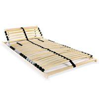 vidaXL lamelbund til seng med 28 lameller 7 zoner 80 x 200 cm