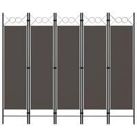 vidaXL 5-panels rumdeler 200x180 cm antracitgrå