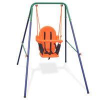 vidaXL gyngesæt med sikkerhedsele til småbørn orange