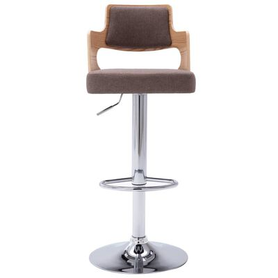 vidaXL barstole 2 stk. bøjet træ og stof gråbrun